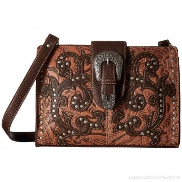 American West Handbags - Bandana by American West Laramie Shoulder Bag